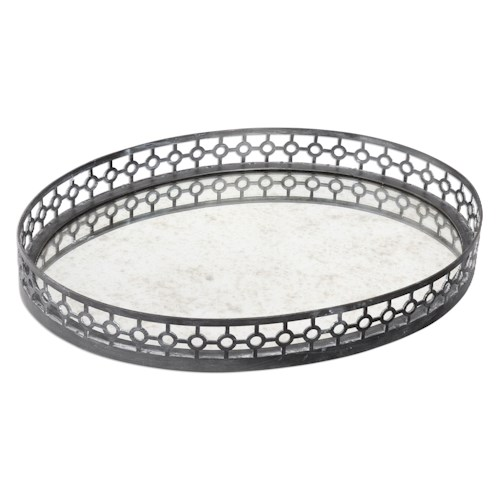 Uttermost Accessories Alessandra Oxidized Gray Tray