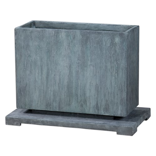Uttermost Accessories Vito Slate Blue Planter