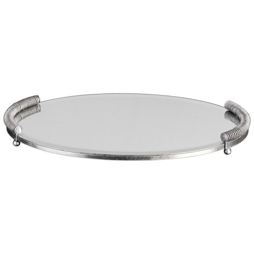 Uttermost Accessories  Egidio Mirrored Oval Tray