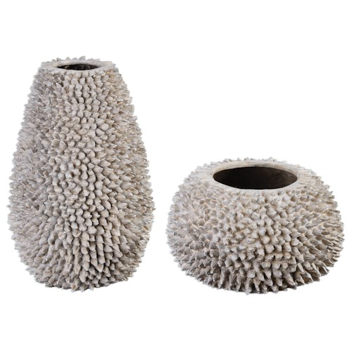 Uttermost Accessories Mollusca Vases (Set of 2)