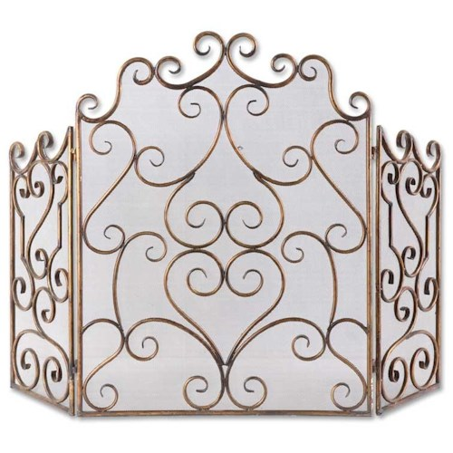 Uttermost Accessories Kora Metal Fireplace Screen