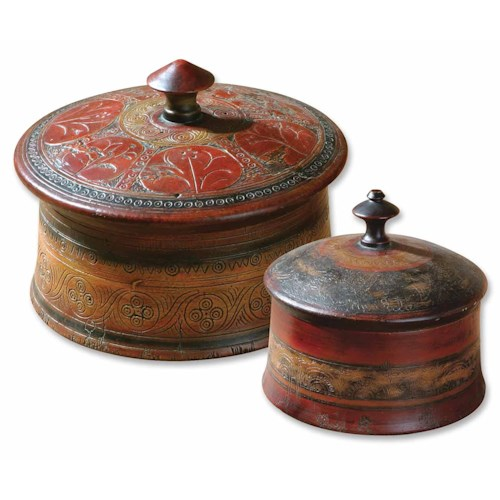 Uttermost Accessories Sherpa Boxes Set of 2