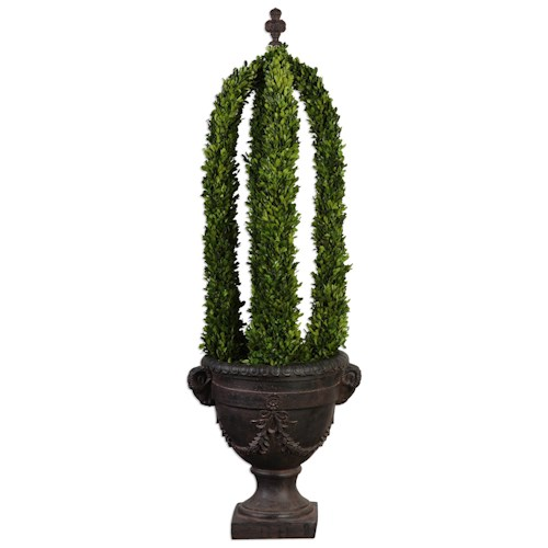Uttermost Accessories Preserved Boxwood Obelisk Tower