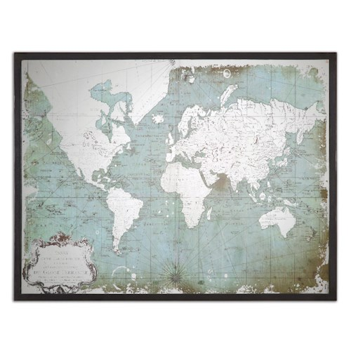 Uttermost Art Mirrored World Map