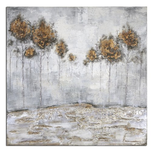 Uttermost Art Iced Trees Abstract Art