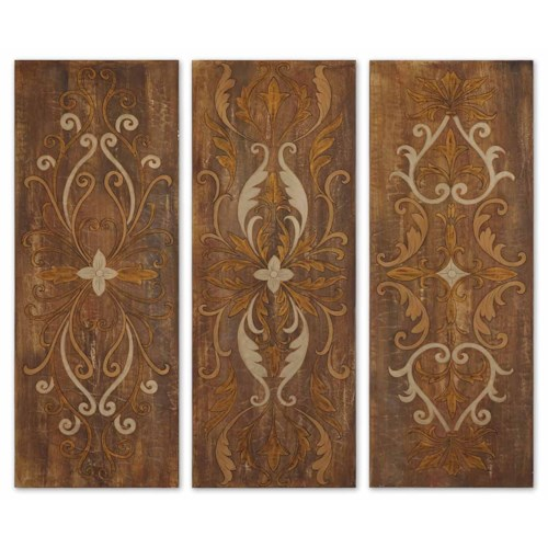 Uttermost Art Elegant Swirl Panels Set of 3
