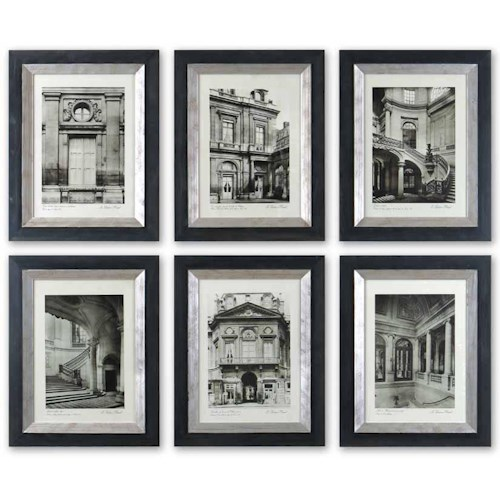 Uttermost Art Paris Scene Set of 6