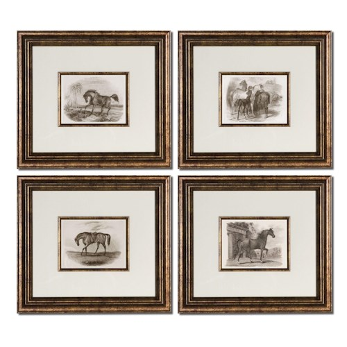 Uttermost Art Horses Set of 4