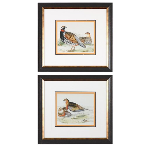 Uttermost Art Pair Of Quail Framed Prints, S/2