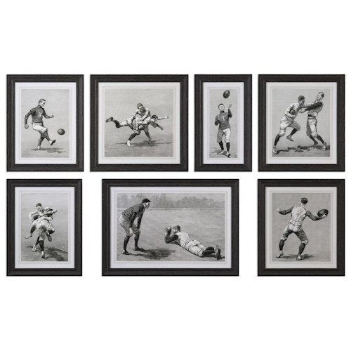 Uttermost Art Vintage Football Techniques (Set of 7)