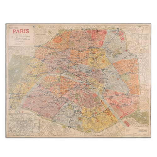 Uttermost Art Paris Nouveau Plan Giclee Artwork