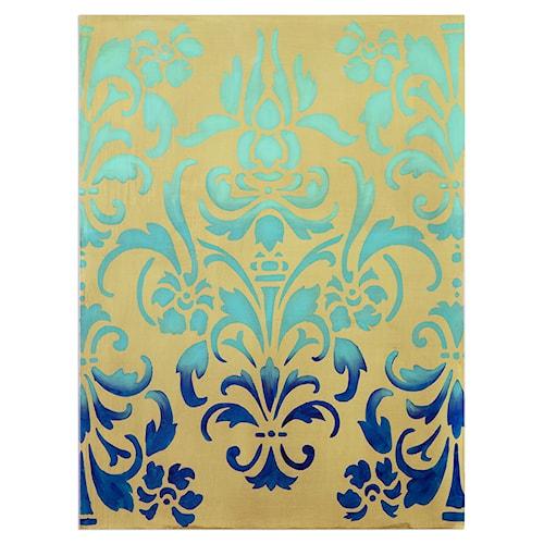 Uttermost Art Blue Ombre Stencil Art