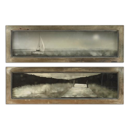 Uttermost Art Twilight Sail Framed Art Set of 2