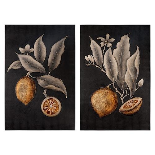 Uttermost Art Citrus Study Hand Painted Art, S/2
