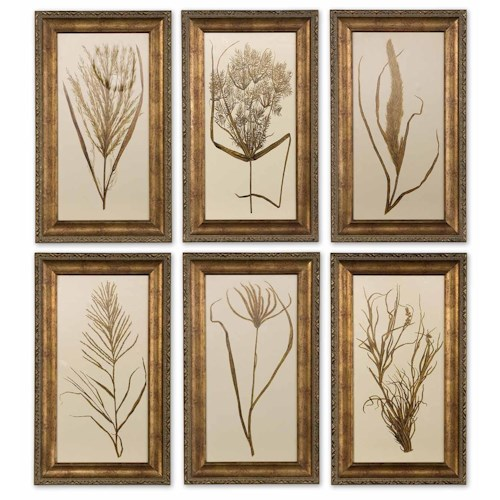 Uttermost Art Wheat Grass Set of 6