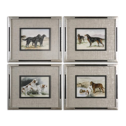 Uttermost Art Working Dogs Framed Art, S/4
