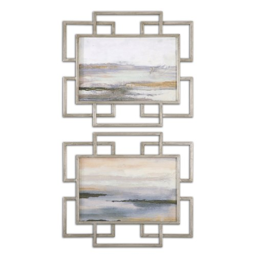 Uttermost Art Gray Mist Framed Art Set of 2