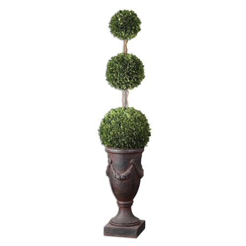 Uttermost Botanicals Preserved Boxwood Triple Topiary