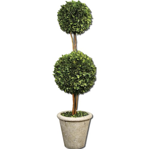 Uttermost Botanicals Preserved Boxwood Two Sphere Topiary