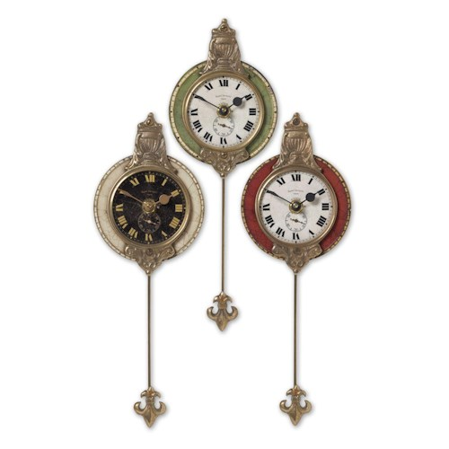 Uttermost Clocks Monarch Clocks Set of 3
