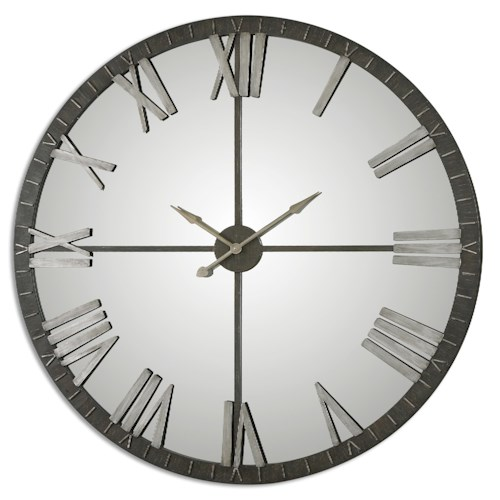 Uttermost Clocks Amelie Large Bronze Wall Clock