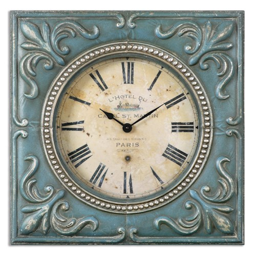 Uttermost Clocks Canal St. Martin Square Wall Clock