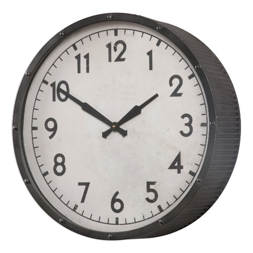 Uttermost Clocks Berta Ivory Wall Clock