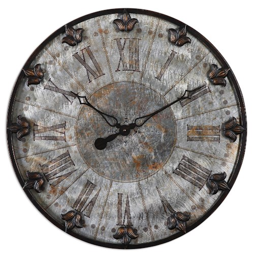 Uttermost Clocks Artemis Antique Wall Clock