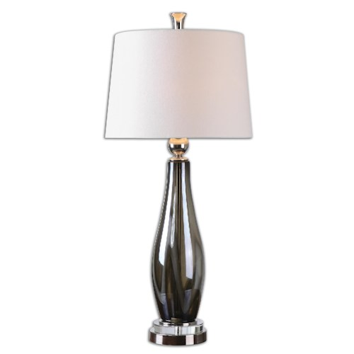 Uttermost Lamps Belinus Gray Glass Table Lamp