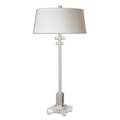 Uttermost Lamps Eutropius Nickel Buffet Lamp