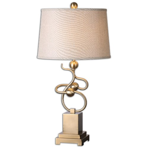 Uttermost Lamps Apollonia Modern Brass Lamp