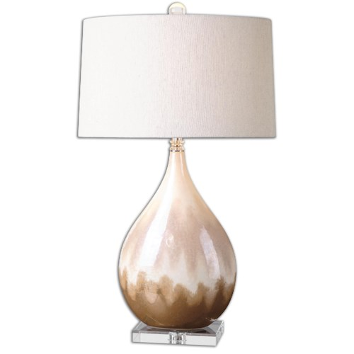 Uttermost Lamps Flavian Glazed Ceramic Lamp