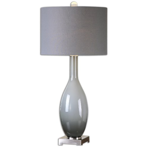 Uttermost Lamps Vallo Smoke Gray Glass Lamp