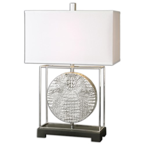 Uttermost Lamps Taratoare Polished Nickel Lamp