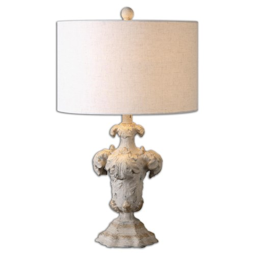 Uttermost Lamps Cassano Antique Ivory Table Lamp