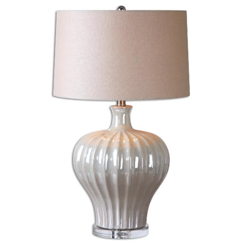 Uttermost Lamps Capolona Pearl Glaze Lamp
