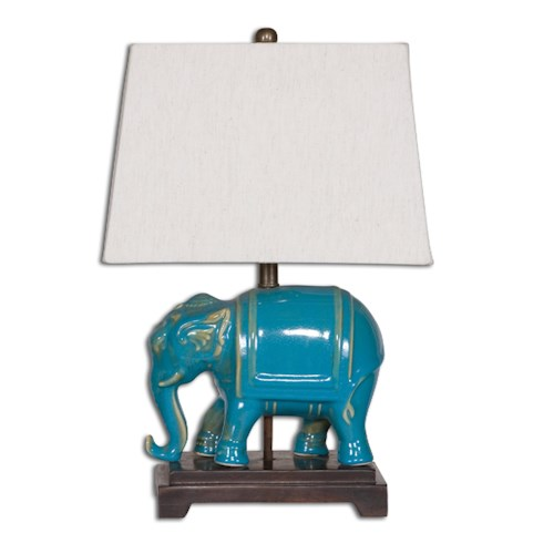 Uttermost Lamps Pradesh Blue Ceramic Table Lamp