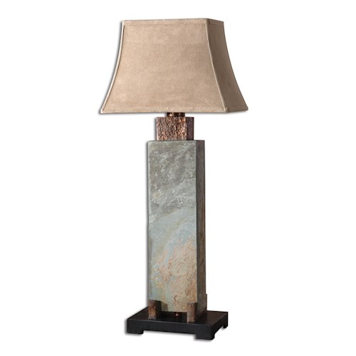 Uttermost Lamps Slate Tall Table