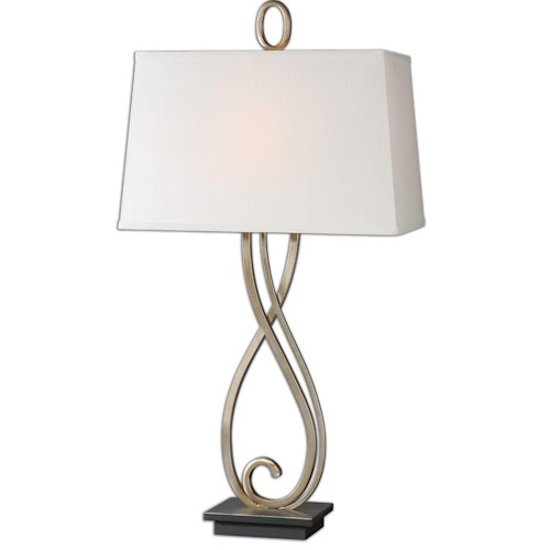 Uttermost Lamps Ferndale Scroll Metal Lamp