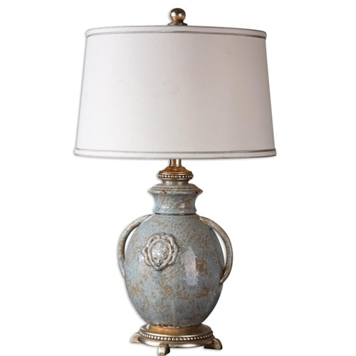 Uttermost Lamps Cancello Blue Glaze Lamp