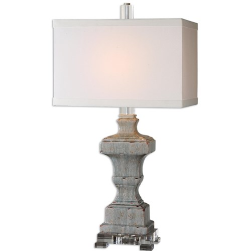 Uttermost Lamps San Marcello Blue Glaze Lamp