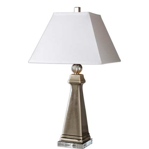 Uttermost Lamps Colobraro Gray Ceramic Lamp