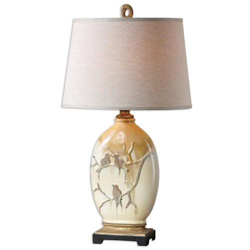 Uttermost Lamps Pajaro Aged Ivory Lamp