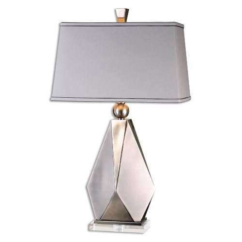 Uttermost Lamps Taburno Brushed Nickel Table Lamp