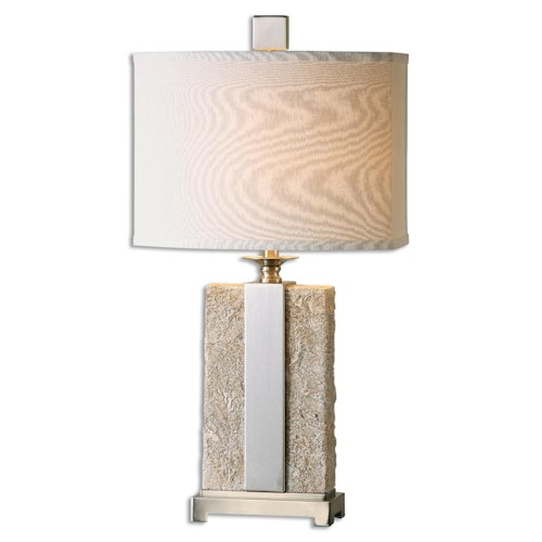 Uttermost Lamps Bonea Stone Ivory Table Lamp