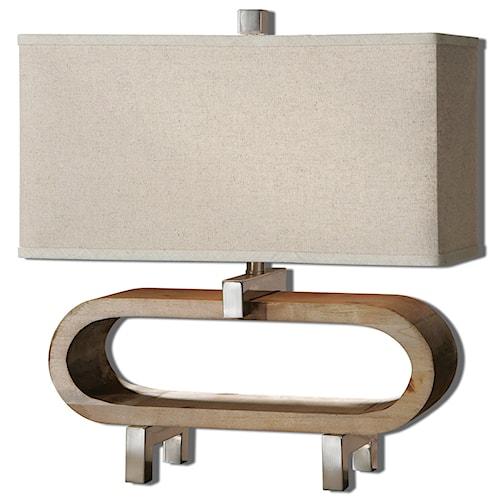 Uttermost Lamps Medea Wood Accent Lamp
