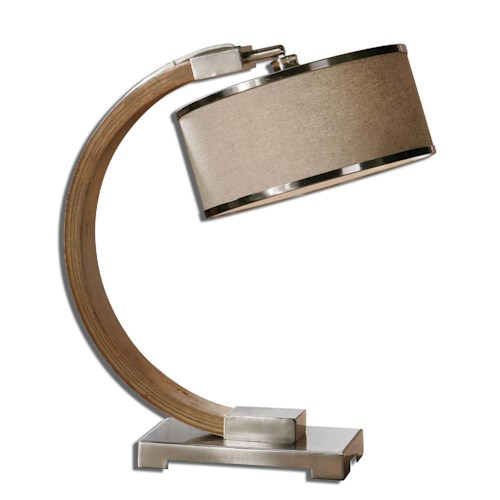 Uttermost Lamps Metauro Wood Desk Lamp