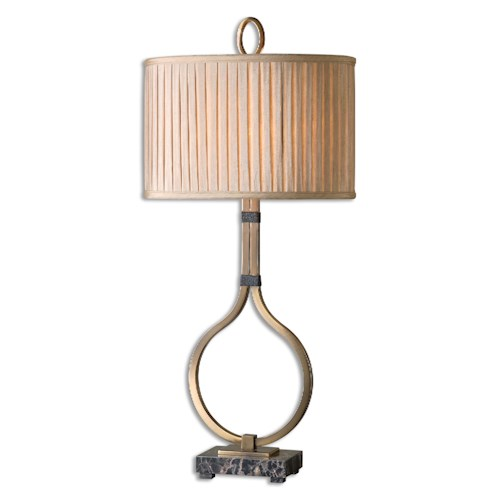 Uttermost Lamps Cusano Brushed Brass Table Lamp