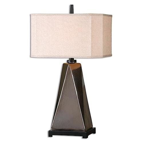 Uttermost Lamps Ceppaloni Metallic Bronze Table Lamp