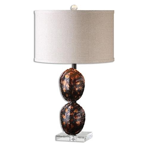 Uttermost Lamps Awanata Tortoise Shell Table Lamp